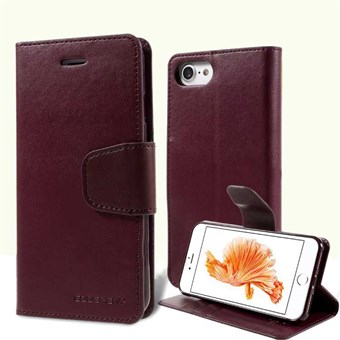 Image of   iphone 7/8 Goospery] SONATA DIARY CASE Wallet Card - Burgundy / under updatering